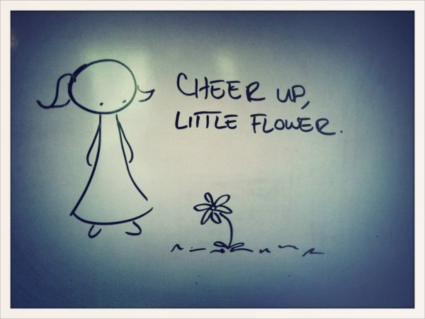 cheer up, little flower.