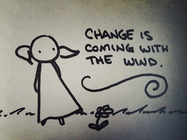 change is coming with the wind